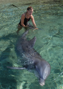 Michele and Shaka the dolphin
