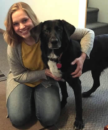 Allison Roguski with her dog, Lilly