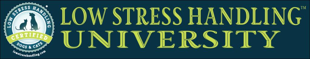 low stress handling university logo